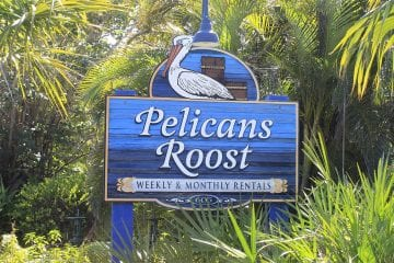 Pelicans Roost Roadside Sign