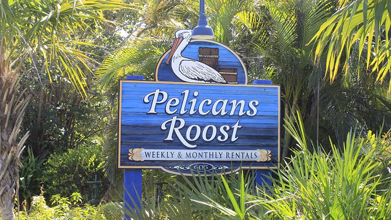 Pelicans Roost Sign