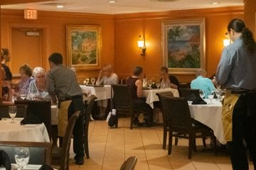 waiters in dining room