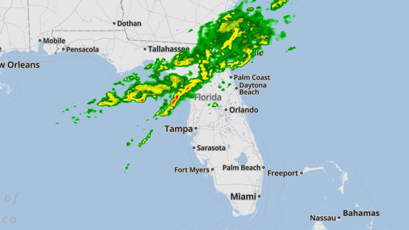 Threat of thunderstorms, 50 mph winds as cold front moves across Central Florida