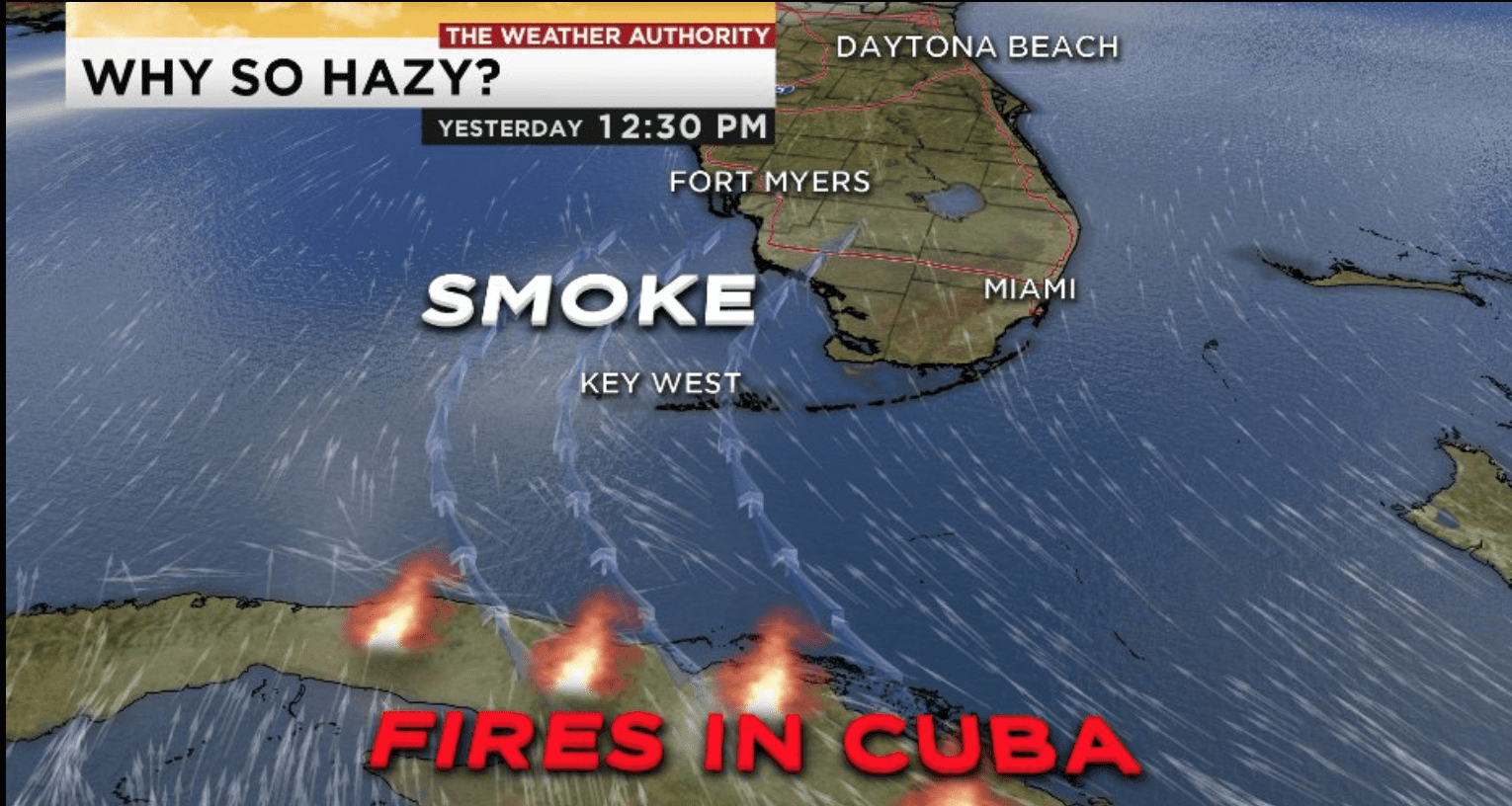 Why so hazy in Florida? The burning answer is hundreds of miles away