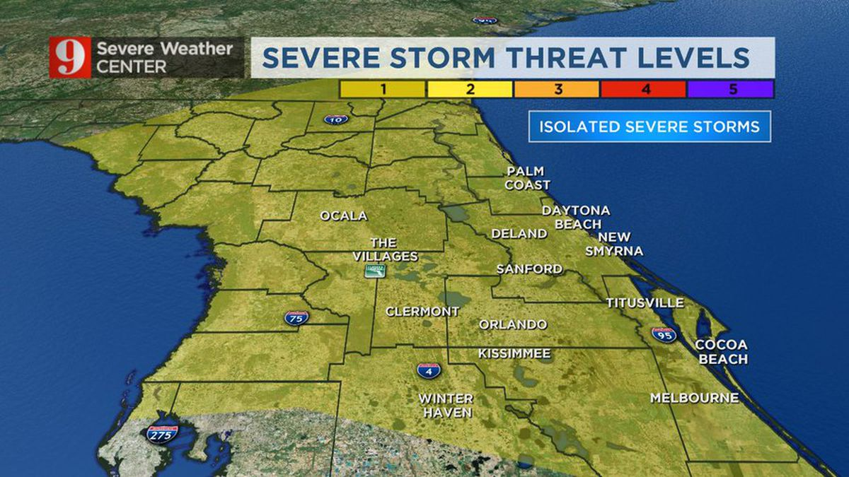 LIVE RADAR: Storms moving over Central Florida, chance for isolated severe storm, still hot